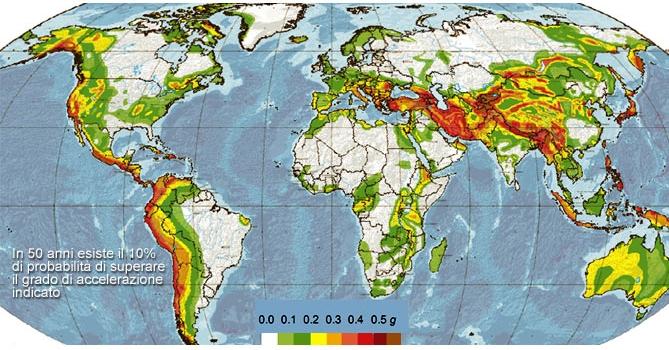 Cartina Dell Italia Zone Sismiche.Tripspace Le Zone Sismiche Nel Mondo